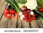 vegetable  food  healthy eating. | Shutterstock . vector #283300547