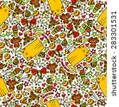 cat seamless pattern | Shutterstock .eps vector #283301531