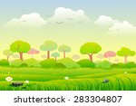 easy to edit vector... | Shutterstock .eps vector #283304807
