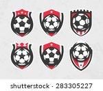 modern vector soccer logo set | Shutterstock .eps vector #283305227