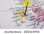 travel destination  pin on the... | Shutterstock . vector #283315955