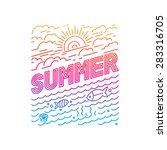 vector summer poster and banner ... | Shutterstock .eps vector #283316705