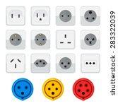vector colored flat design... | Shutterstock .eps vector #283322039