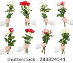 Set Of Three And Five Rose...