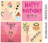 seamless happy birthday party... | Shutterstock .eps vector #283331261