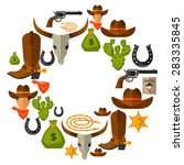 wild west background with...   Shutterstock .eps vector #283335845