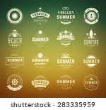 summer holidays labels design... | Shutterstock .eps vector #283335959