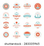 summer holidays labels design... | Shutterstock .eps vector #283335965