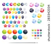 set of different colorful beads ... | Shutterstock .eps vector #283342034