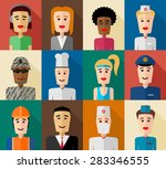 a set of important occupations. ... | Shutterstock .eps vector #283346555