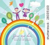 cute children cartoon... | Shutterstock .eps vector #28335103