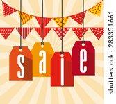 sale banner design  vector... | Shutterstock .eps vector #283351661