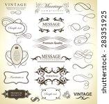 set of calligraphic elements... | Shutterstock .eps vector #283351925