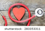 stethoscope with heart symbol... | Shutterstock . vector #283353311