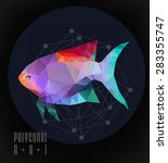 abstract polygonal fish. low... | Shutterstock .eps vector #283355747