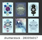 set of poster  flyer  brochure... | Shutterstock .eps vector #283356017