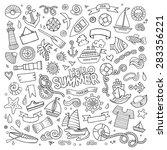 marine nautical hand drawn... | Shutterstock .eps vector #283356221