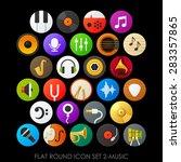 flat round icon set 2 music | Shutterstock .eps vector #283357865