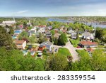 Saguenay City And River In...