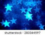 Blue star shape holiday photo...