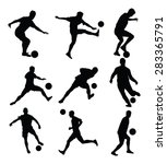 different poses of soccer... | Shutterstock .eps vector #283365791