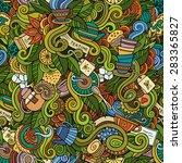 seamless decorative tea doodles ...   Shutterstock .eps vector #283365827