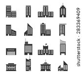buildings icons vector eps10. | Shutterstock .eps vector #283369409