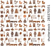 toys icons. seamless pattern.... | Shutterstock .eps vector #283370351