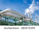 high pressure pipeline for gas... | Shutterstock . vector #283372295