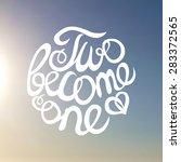 lettering element on blurred... | Shutterstock .eps vector #283372565