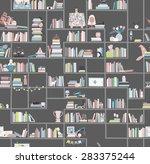 library  bookstore   seamless... | Shutterstock .eps vector #283375244