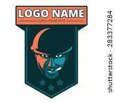 soldier mascot logo design | Shutterstock .eps vector #283377284