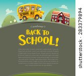 back to school  wide copy space ... | Shutterstock .eps vector #283379894