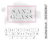 vector high contrast font ... | Shutterstock .eps vector #283382867
