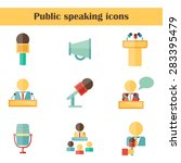 set of isolated flat icons on... | Shutterstock .eps vector #283395479
