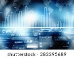 2d business graph background | Shutterstock . vector #283395689