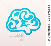 creative cloud carved on paper.   Shutterstock .eps vector #283396865