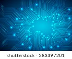 circuit board vector background | Shutterstock .eps vector #283397201
