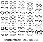 a collection of various styles... | Shutterstock .eps vector #283401611