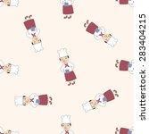 chef   cartoon seamless pattern ... | Shutterstock . vector #283404215