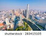 aerial view of tianjin skyline... | Shutterstock . vector #283415105