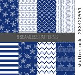 set of sea and nautical...   Shutterstock .eps vector #283420991