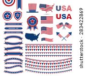 Flag Day, independence day design element, USA flag pattern element  - stock vector