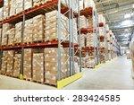 Interior Of Modern Warehouse....