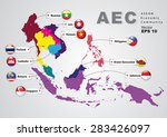 aec asean economic community... | Shutterstock .eps vector #283426097