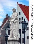sculpture of roland in the town ... | Shutterstock . vector #283429619