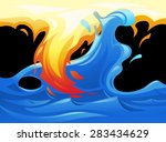 illustration of the water and... | Shutterstock .eps vector #283434629