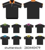 vector set of polo shirts ... | Shutterstock .eps vector #283440479