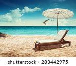 beach and tropical sea. concept ... | Shutterstock . vector #283442975