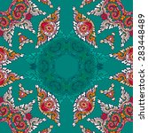 seamless pattern ethnic style.... | Shutterstock .eps vector #283448489